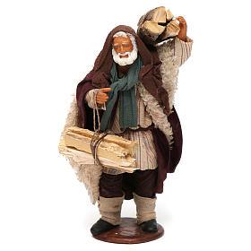 Man with firewood 14cm Neapolitan Nativity s1
