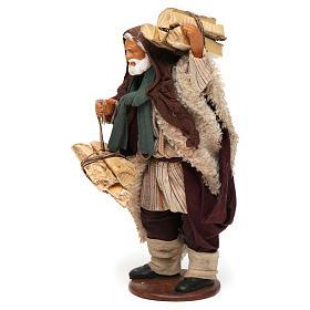 Hombre con leña 14 cm de altura media belén napolitano s2