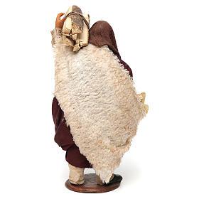 Hombre con leña 14 cm de altura media belén napolitano s4