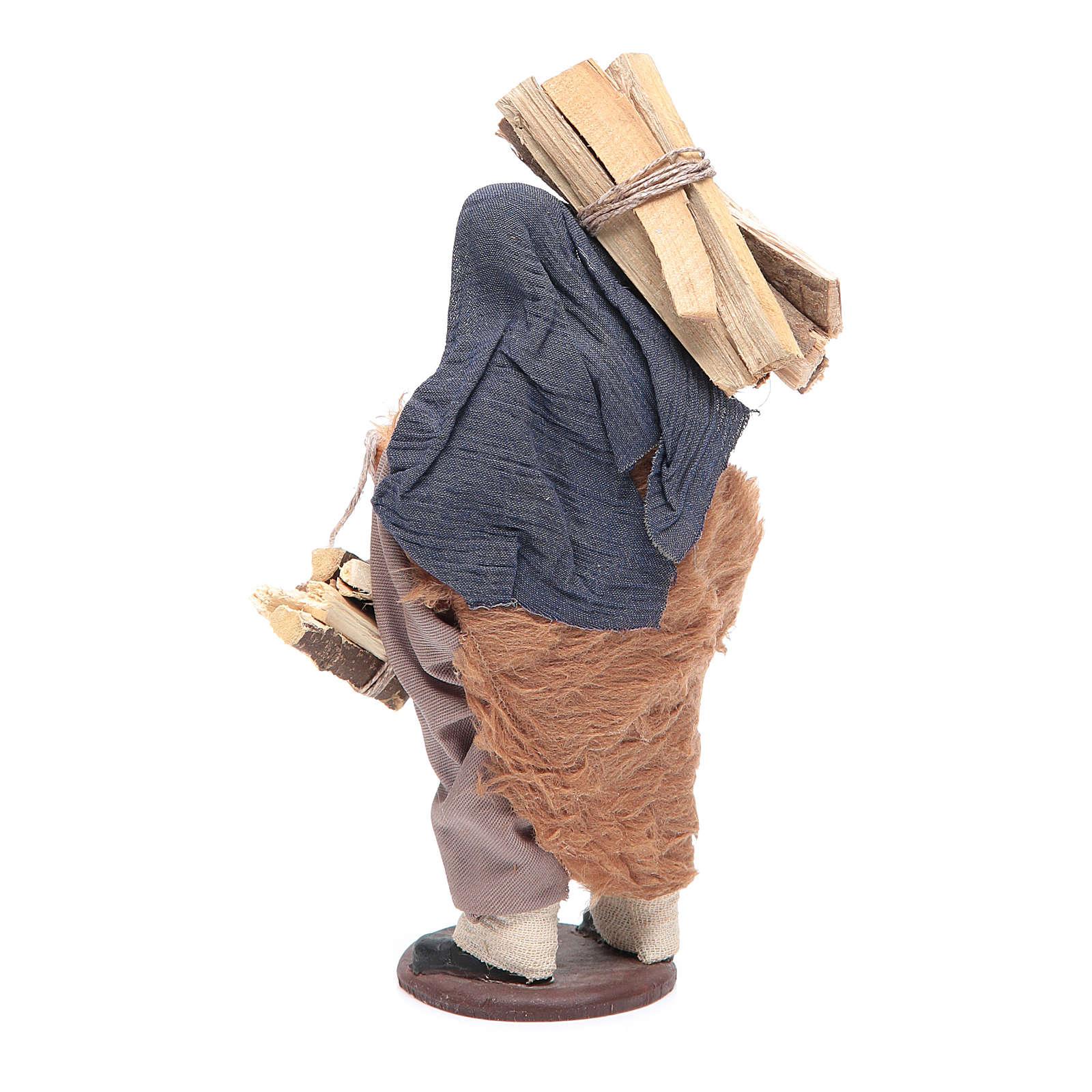 Uomo con legna 14 cm presepe napoletano 4