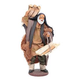 Uomo con legna 14 cm presepe napoletano s1