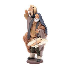 Uomo con legna 14 cm presepe napoletano s2