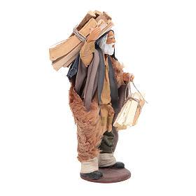 Uomo con legna 14 cm presepe napoletano s4