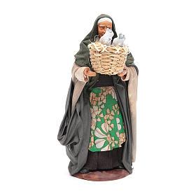 Mujer con cesto con gatos 14 cm belén napolitano s1