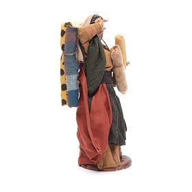 Donna con stoffe 14 cm presepe napoletano s4