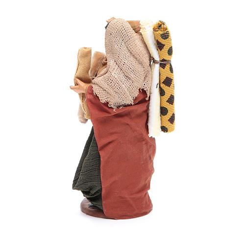 Donna con stoffe 14 cm presepe napoletano 3