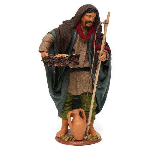 Pescador viejo con cesto 16 cm belén napolitano 1