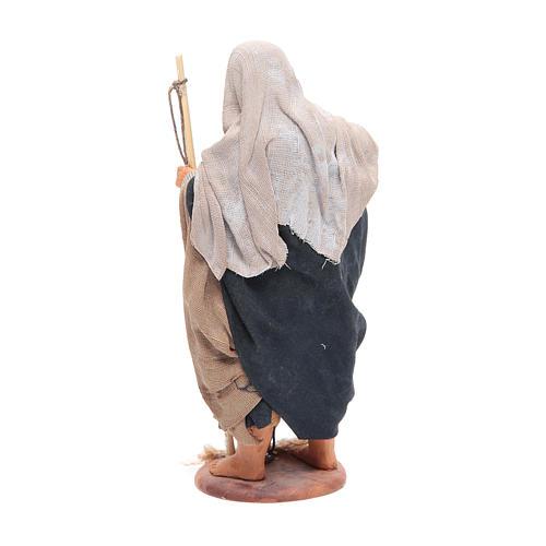 Pescatore anziano con cesto 16 cm presepe napoletano 3
