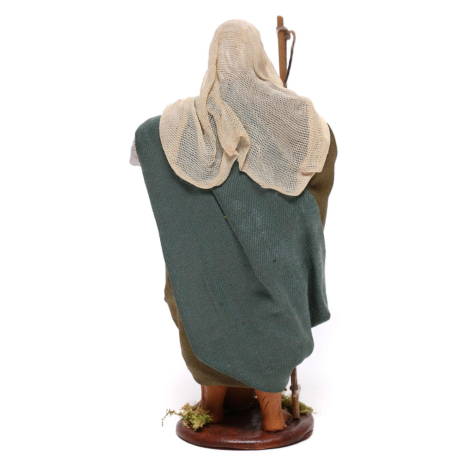Old fisherman 14cm Neapolitan Nativity figurine 4