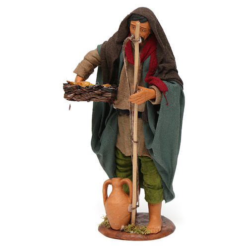 Old fisherman 14cm Neapolitan Nativity figurine 2