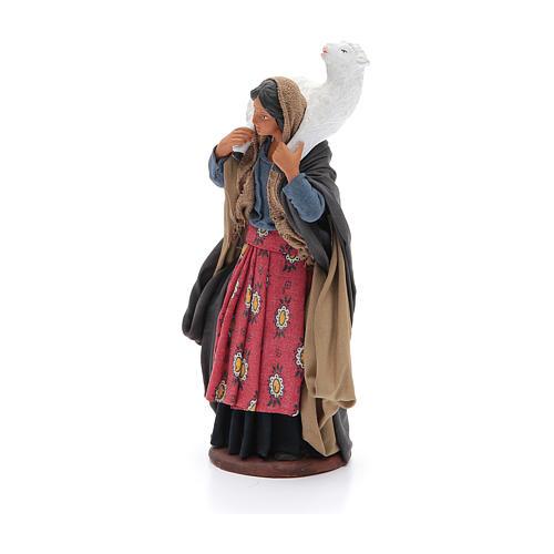 Donna con pecora sulle spalle 14 cm presepe napoletano 2