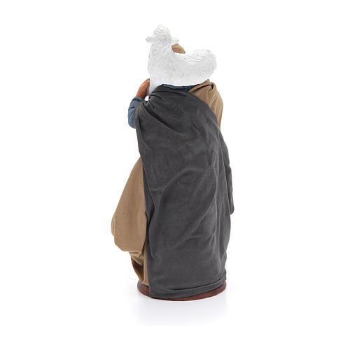 Donna con pecora sulle spalle 14 cm presepe napoletano 3