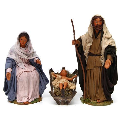 Natività classica 3 personaggi 24 cm presepe napoletano 1