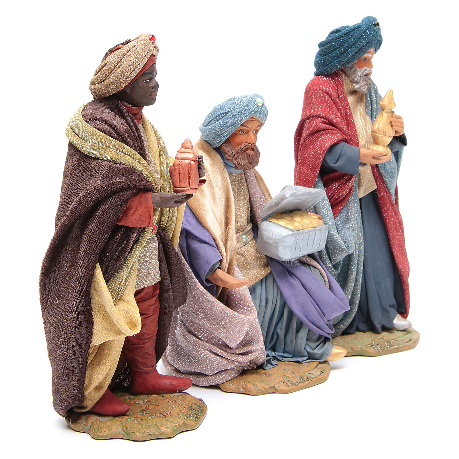 Three Wise Men for Neapolitan Nativity scene 24 cm 4