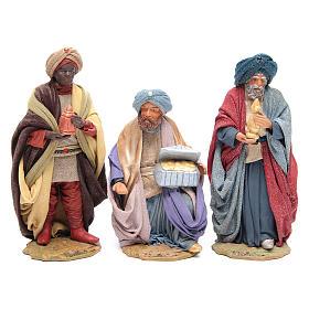 Three Wise Men for Neapolitan Nativity scene 24 cm s1