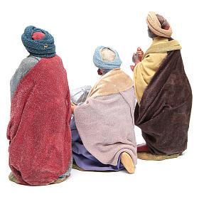 Three Wise Men for Neapolitan Nativity scene 24 cm s3