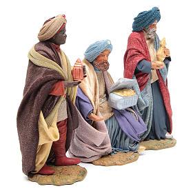 Three Wise Men for Neapolitan Nativity scene 24 cm s4
