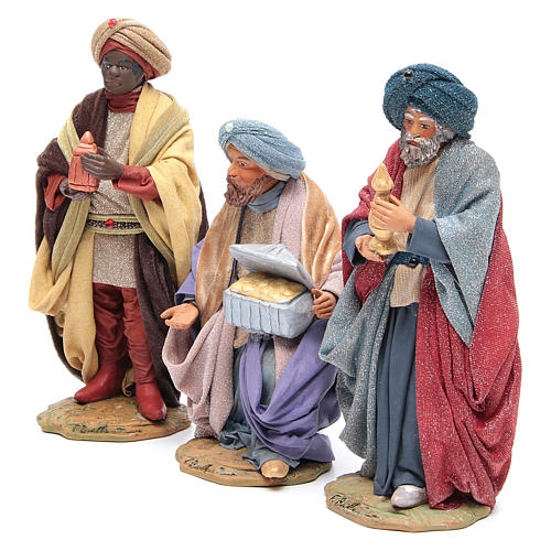 Three Wise Men for Neapolitan Nativity scene 24 cm 2