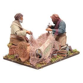 Escena de pescadores belén napolitano 24 cm s4