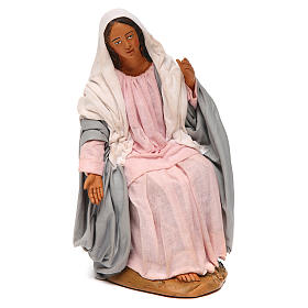 Virgem Maria para presépio napolitano com figuras 30 cm  altura média s1