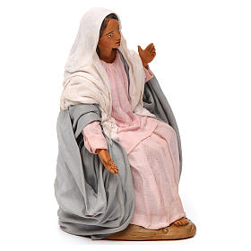 Virgem Maria para presépio napolitano com figuras 30 cm  altura média s4