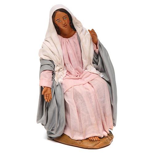 Virgem Maria para presépio napolitano com figuras 30 cm  altura média 1