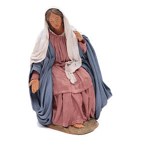 Sitting Mary 30cm Neapolitan Nativity figurine s1