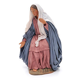 Sitting Mary 30cm Neapolitan Nativity figurine s2
