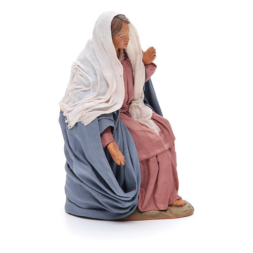 Sitting Mary 30cm Neapolitan Nativity figurine 4