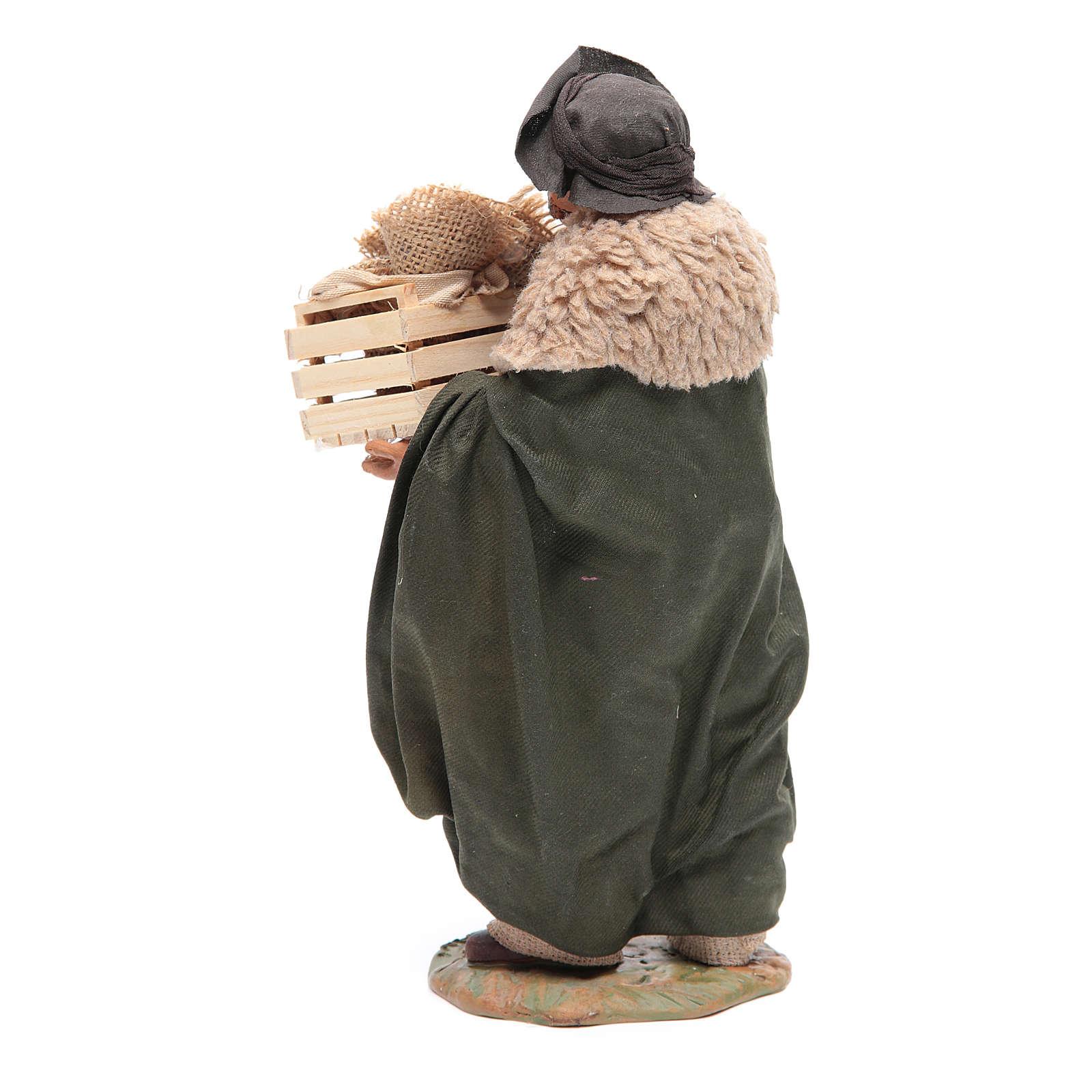 Man with basket 24 cm, Neapolitan Nativity scene 4
