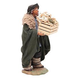 Man with basket 24 cm, Neapolitan Nativity scene s4