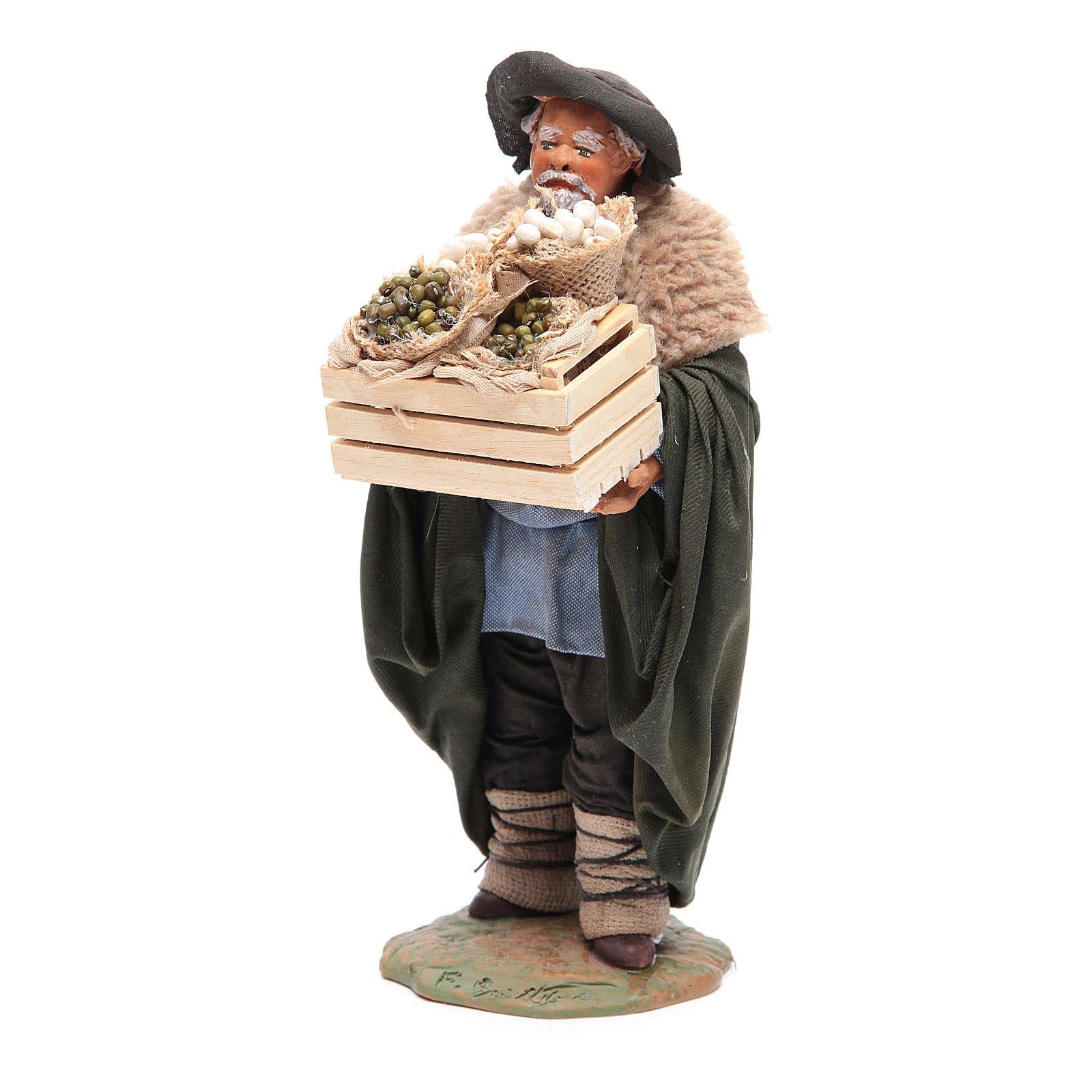 Mężczyzna ze skrzynką szopka neapolitańska 24 cm 4