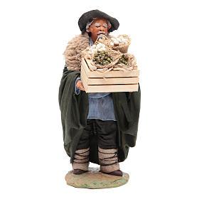 Man with basket 24 cm, Neapolitan Nativity scene s1