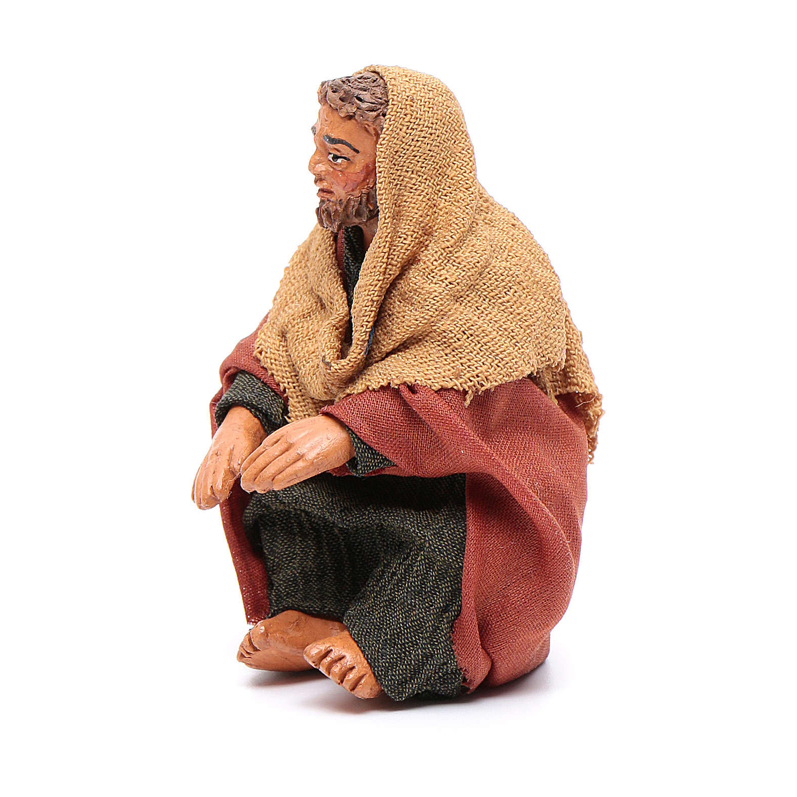 Man warming hands 10cm, Neapolitan Nativity scene 4
