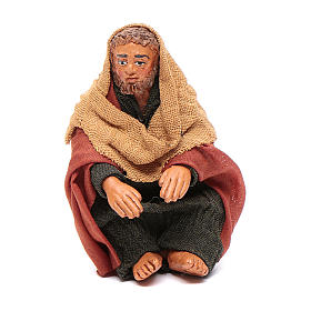 Man warming hands 10cm, Neapolitan Nativity scene s1