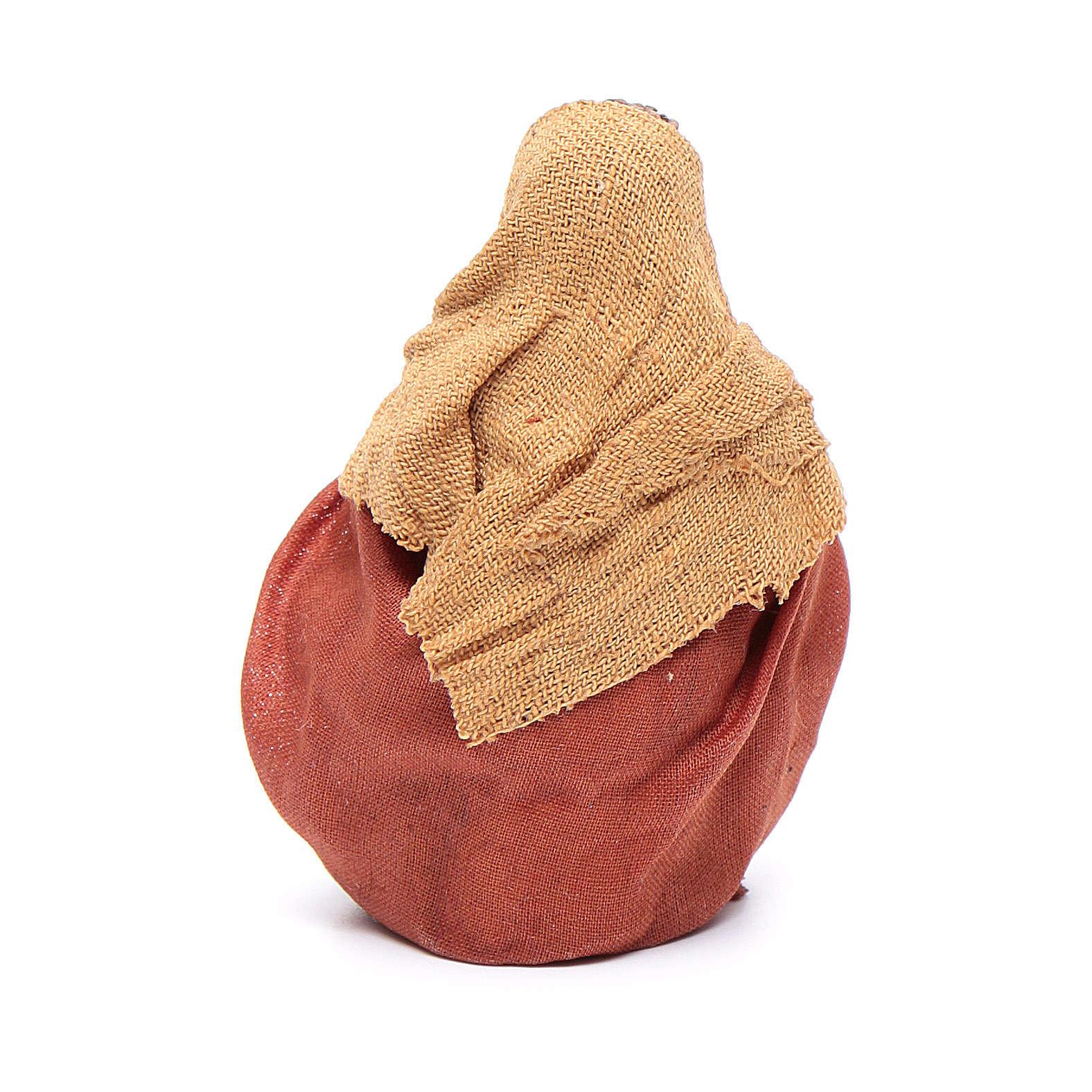 Homem aquecendo as mãos 10 cm presépio napolitano 4
