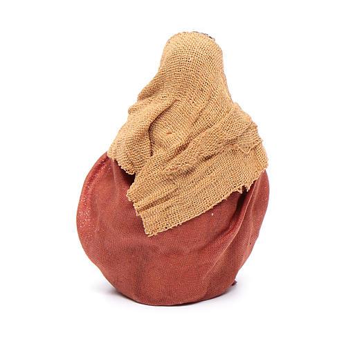 Homem aquecendo as mãos 10 cm presépio napolitano 3