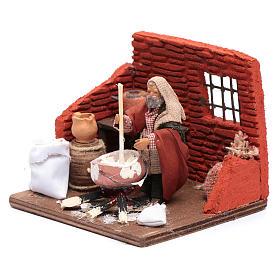 Ricotta cheese seller 10 cm in terracotta for Neapolitan nativity scene s2