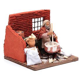 Ricotta cheese seller 10 cm in terracotta for Neapolitan nativity scene s3