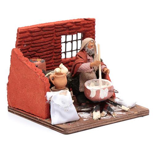 Ricotta cheese seller 10 cm in terracotta for Neapolitan nativity scene 3