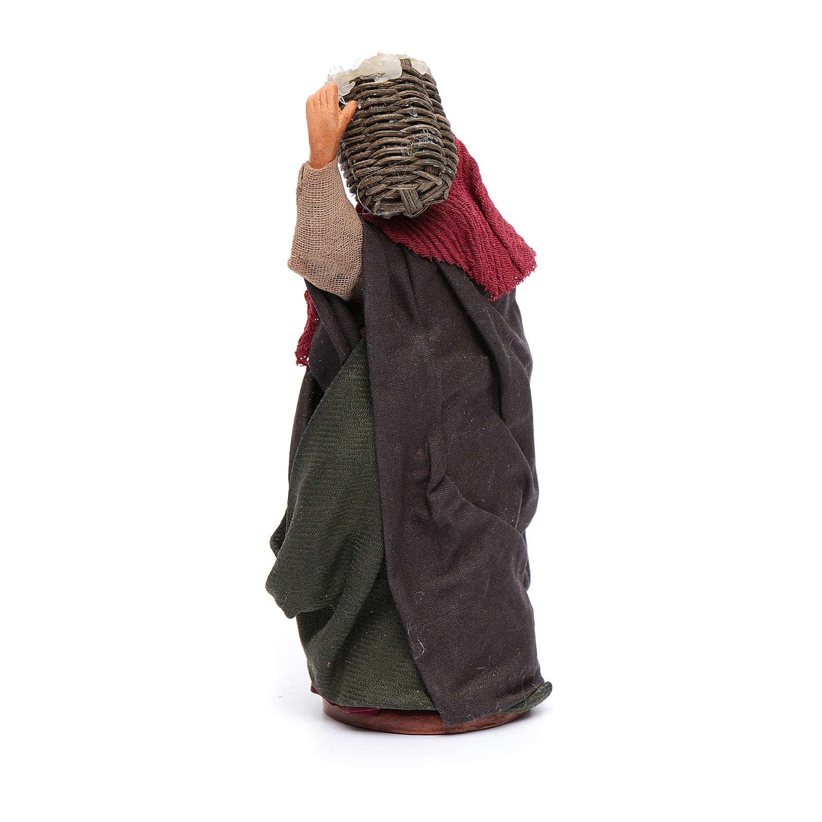 Donna con cesto di ricotta 12 cm 4