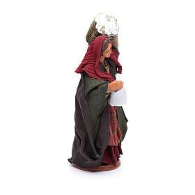 Donna con cesto di ricotta 12 cm s4