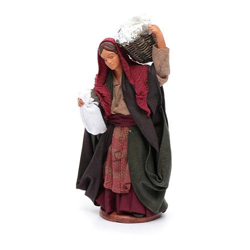 Donna con cesto di ricotta 12 cm 2