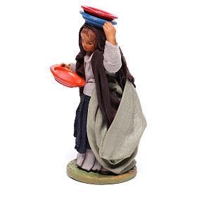 Mujer con platos 12 cm belèn napolitano s2