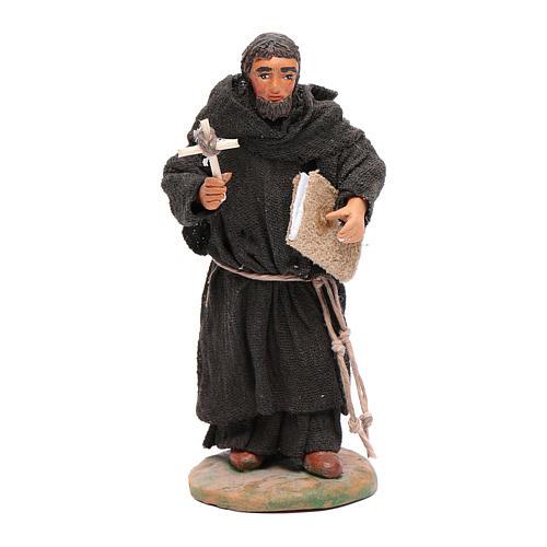 Estatua fraile 12 cm belén napolitano 1
