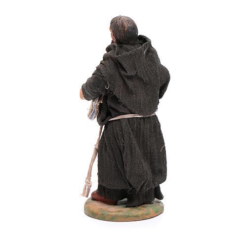 Estatua fraile 12 cm belén napolitano 3