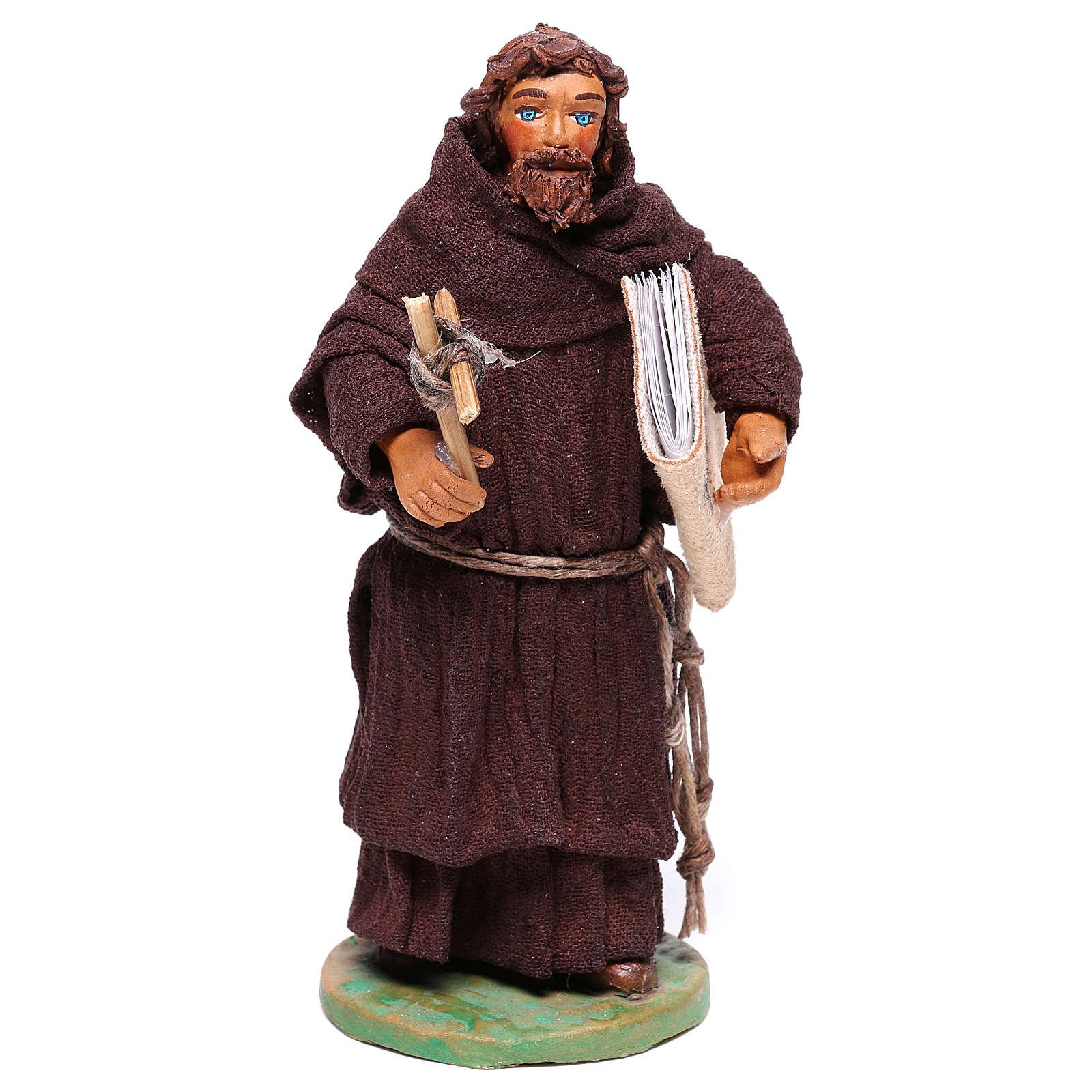 Statuetta frate 12 cm presepe napoletano 4