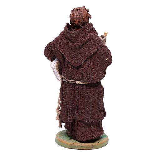 Statuetta frate 12 cm presepe napoletano 5