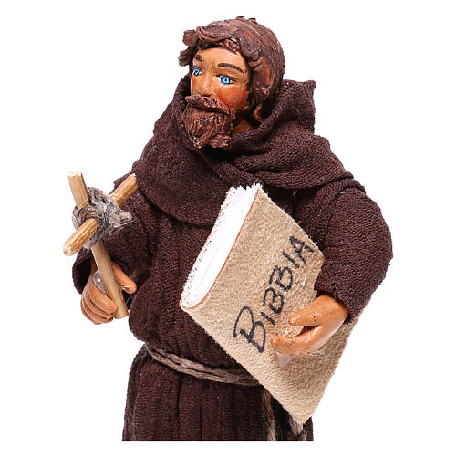 Frair statue 12 cm for Neapolitan nativity scene 2