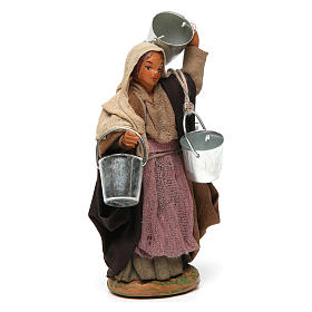 Woman carrying buckets 12 cm for Neapolitan nativity scene s3